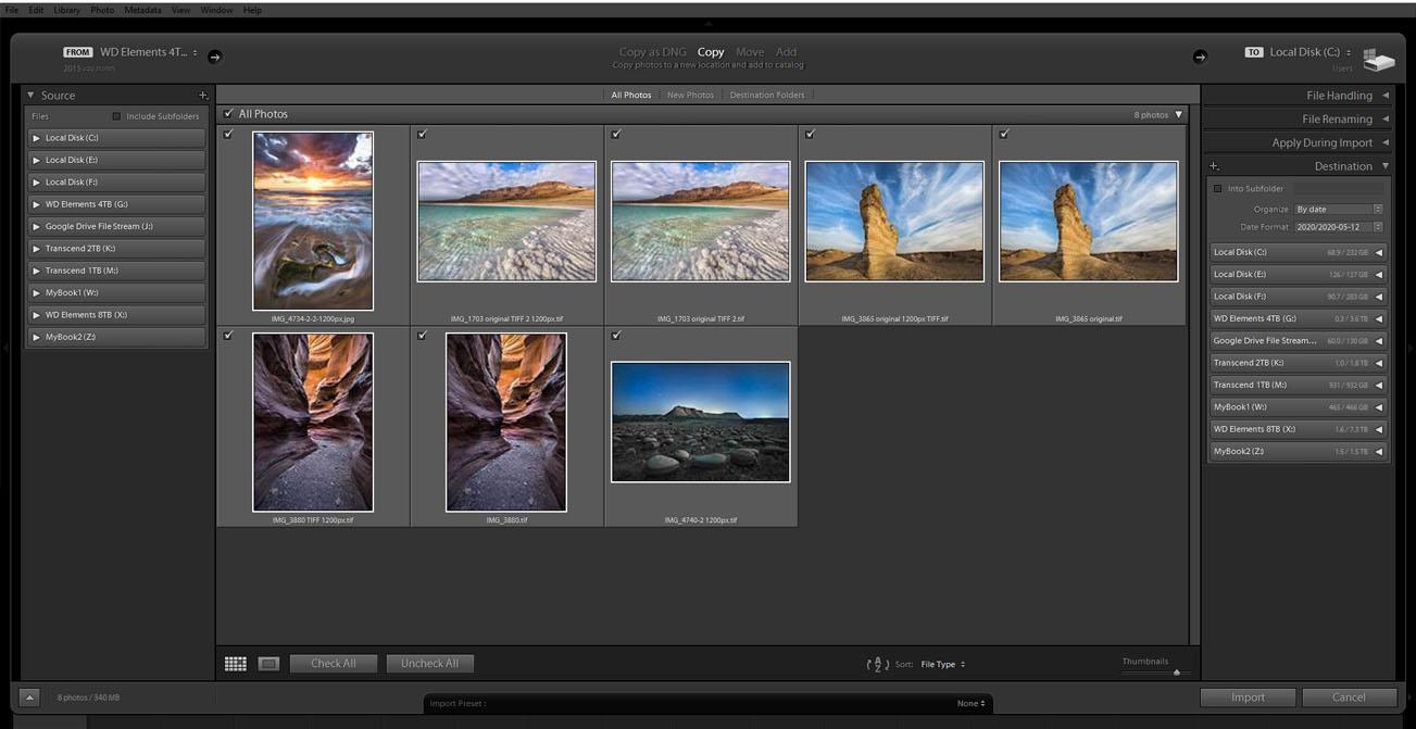 עריכת תמונות ב Lightroon - יבוא תמונות | Wild Travel