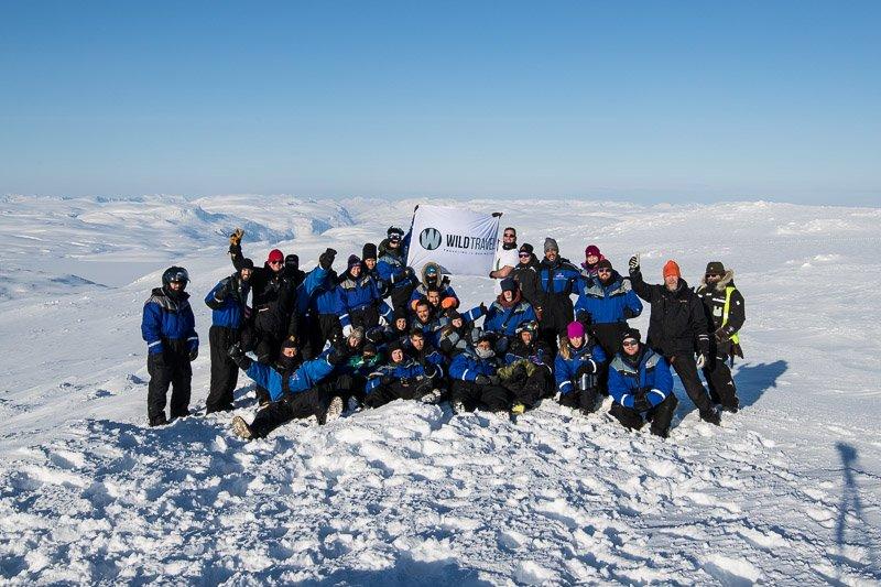 קבוצת לפלנד אקסטרים על הגבול בין פינלנד לנורבגיה - Wild Travel