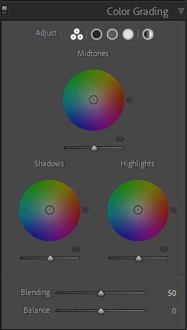 עריכת תמונות בלייטרום - מסך שליטה ב Color Grading | Wild Travel