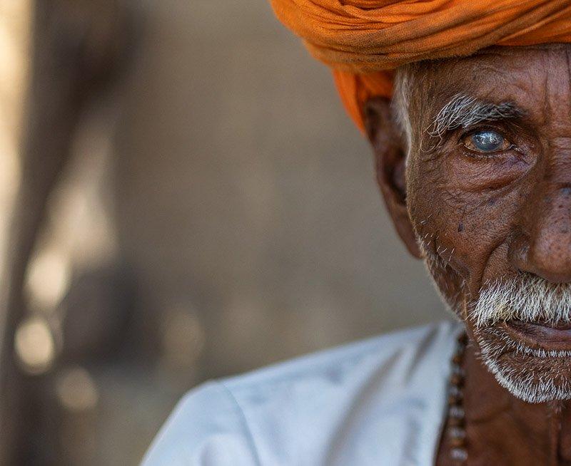 פורטרט של איש מבוגר, רג'סטן הודו - Wild Travel