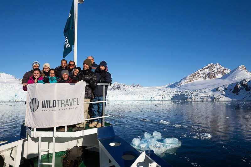 הקבוצה שלנו בהפלגה לשפיצברגן - Wild Travel