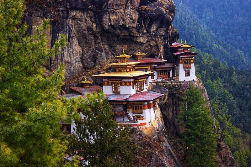 מקדש קן הטיגריסית המפורסם, בהוטן - Wild Travel