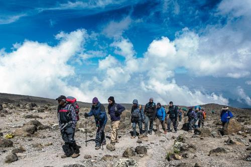 עולים אל מגדל הלאבה בדרך מצ'מה, קילימנג'רו - Wild Travel