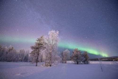 זוהר צפוני בצפון לפלנד הפינית - Wild Travel