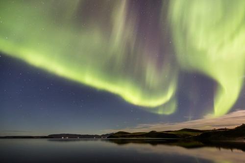 זוהר צפוני באגם מיווטן בצפון איסלנד - Wild Travel
