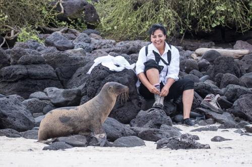 אריה ים ליד המטיילים, איי גלפגוס - Wild Travel